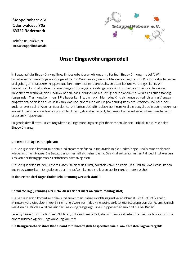 Berliner Eingewoehnungsmodell Stoppelhobser e.V.